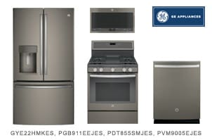 GE Slate Kitchen Appliance Package