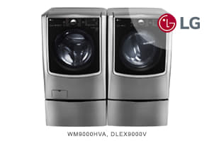 LG Graphite Steel Front-Load TurboWash Series Laundry Pair
