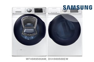 Samsung White Front Load AddWash Laundry Pair