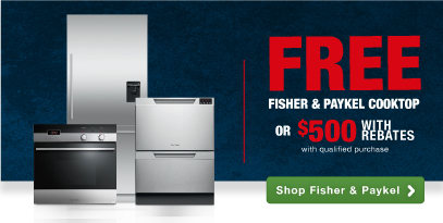 Fisher & Paykel luxury brand style and performance savings on kitchen appliances