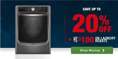 Maytag top brand laundry home appliances savings rebate