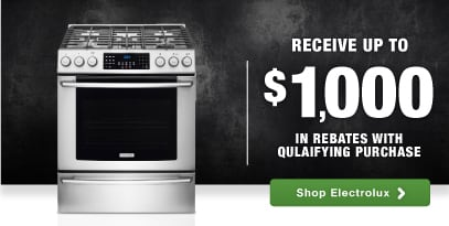 Electrolux Top Brand cooking appliance rebate