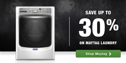 Maytag top brand laundry home appliances savings rebate