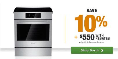Bosch Top Quality, German Engineering, Top Brand Home Appliance Savings rebates