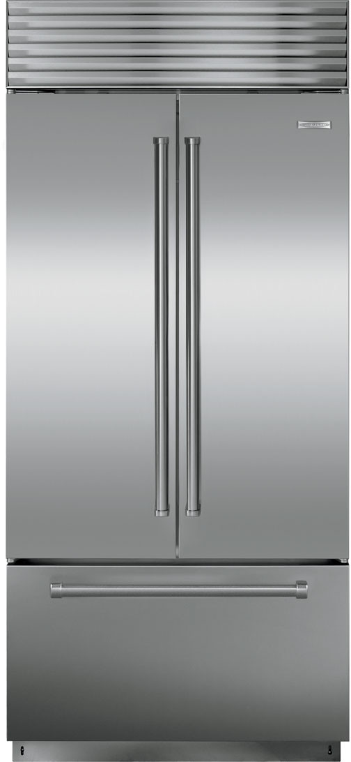Sub Zero Bi36ufd 36 Inch Built In French Door Refrigerator