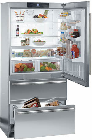 Single Door Bottom Freezer In Kitchens