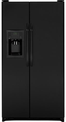 Ge Gsh25jgdbb 25 3 Cu Ft Side By Side Refrigerator With
