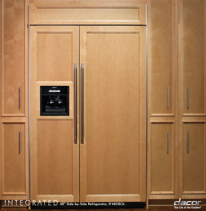 Dacor if48nbol 48 inch built in side by side refrigerator for Dacor 48 rangetop