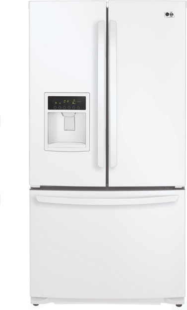 Lg lfx25961sw 24 7 cu ft french door refrigerator with 4 for Split french doors