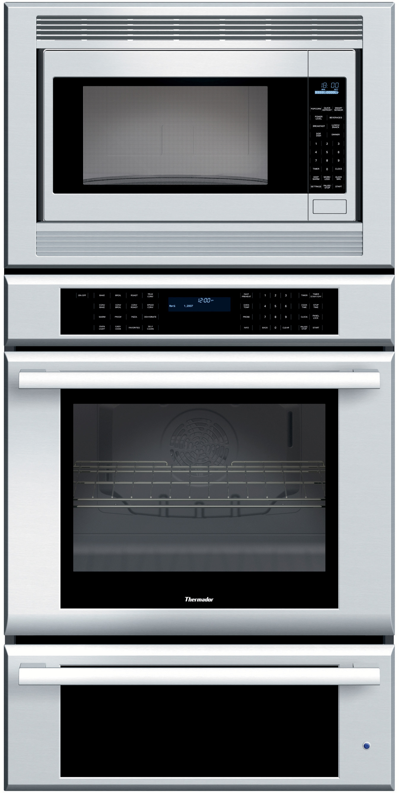 Thermador Memw271eb 27 Inch Triple Combination Wall Oven