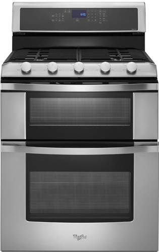 Whirlpool Wgg755s0bs 30 Inch Freestanding Gas Double Oven