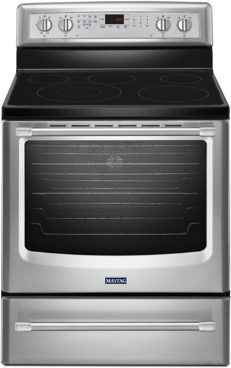 Maytag Mer8800ds 30 Inch Freestanding Electric Range With