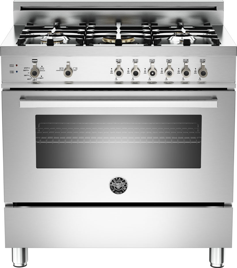 36 Inch Pro-Style Gas Range with 4.4 cu. ft. Convection Oven ...