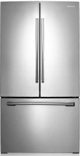 Samsung rf220nctasp 30 inch french door refrigerator with for Split french doors