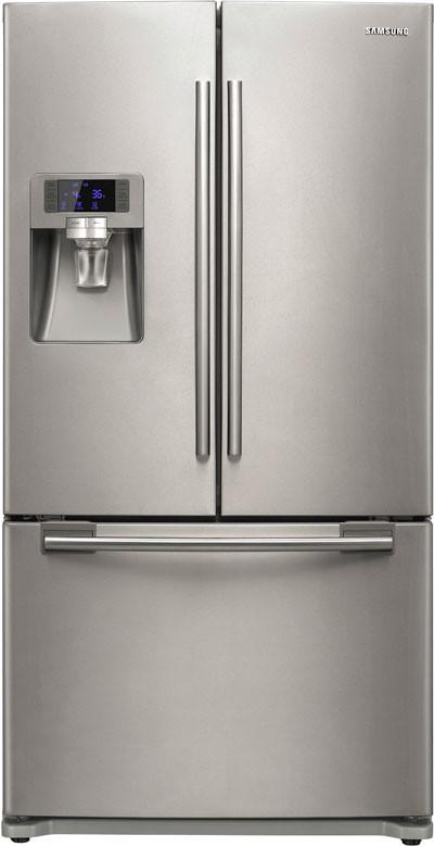 Samsung Rfg297aars 28 5 Cu Ft French Door Refrigerator