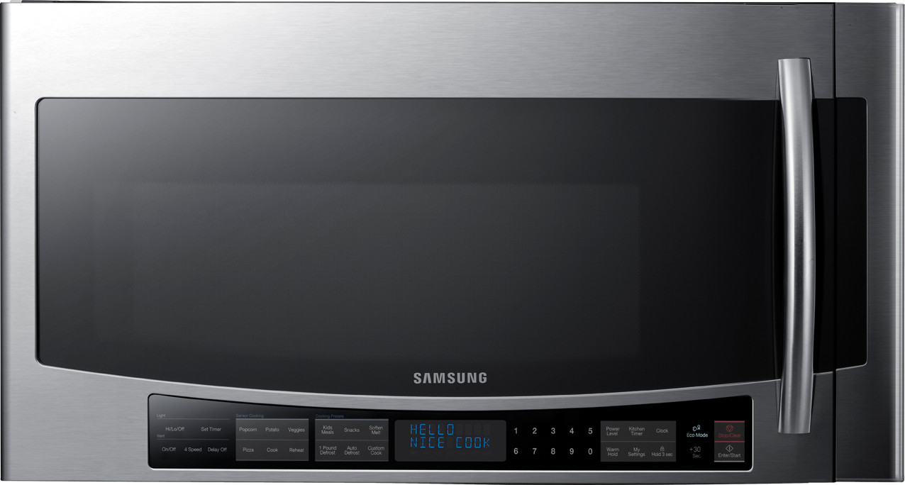Samsung Smh2117s 2 1 Cu Ft Over The Range Microwave Oven