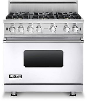 Viking Vgcc5366bwh 36 Inch Gas Range With 5 1 Cu Ft