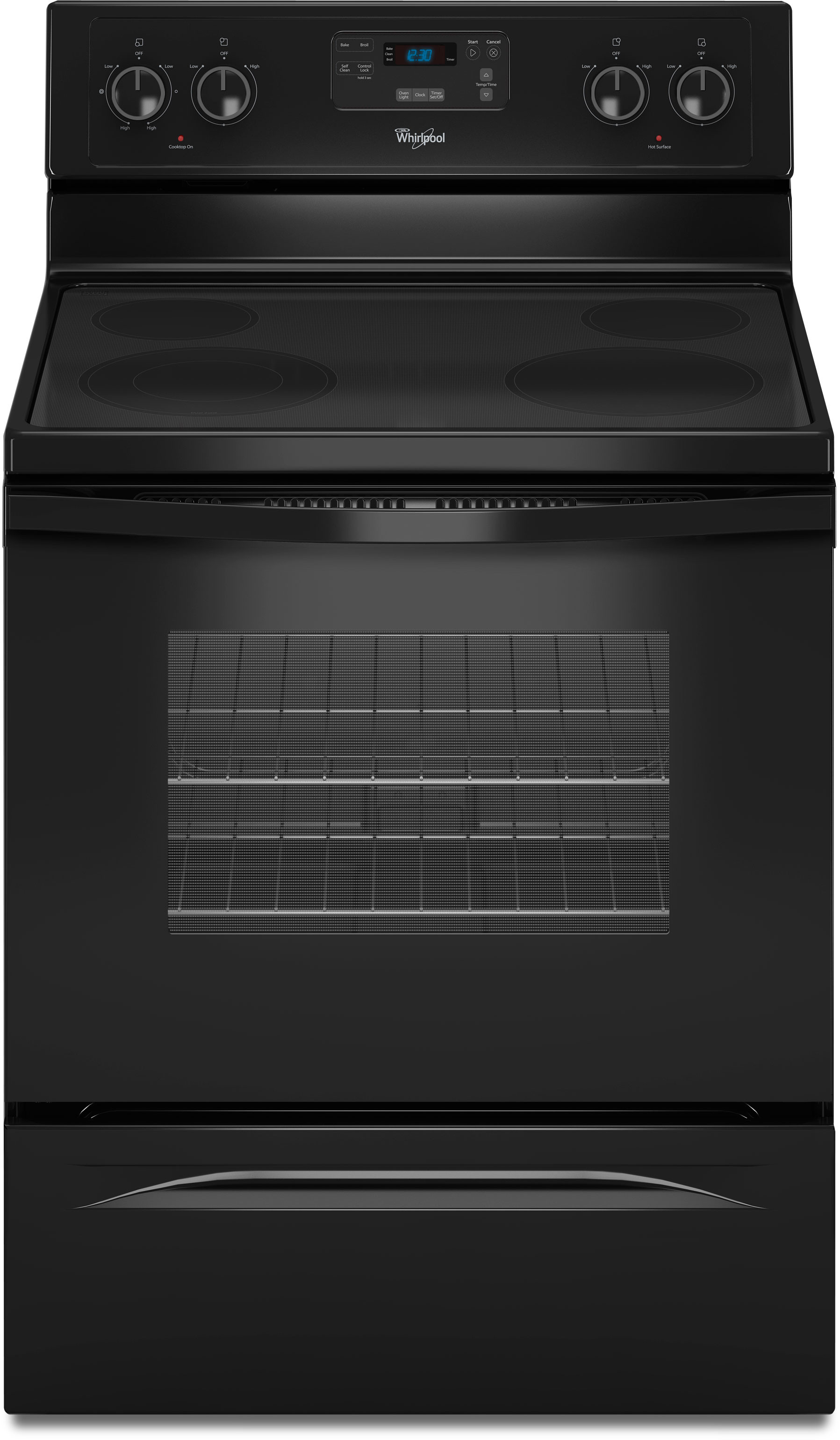 Whirlpool Wfe510s0ab 30 Inch Freestanding Smoothtop