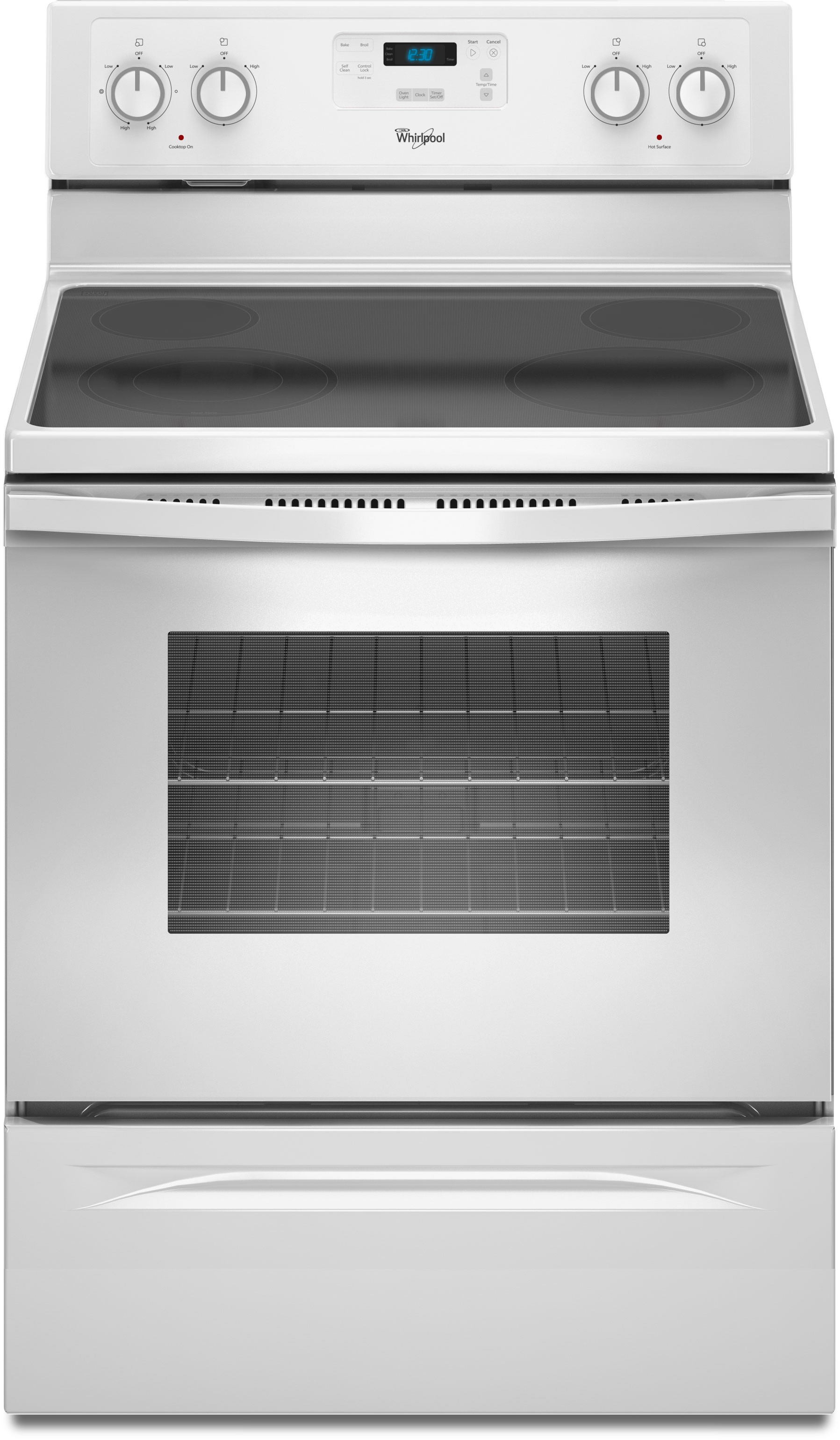 Whirlpool Wfe510s0aw 30 Inch Freestanding Electric Range