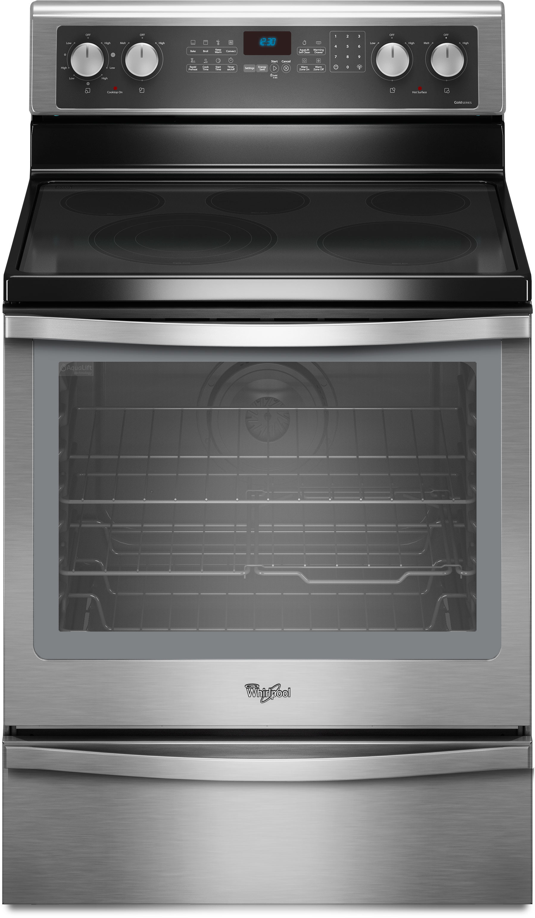Whirlpool Wfe720h0as 30 Inch Freestanding Smoothtop