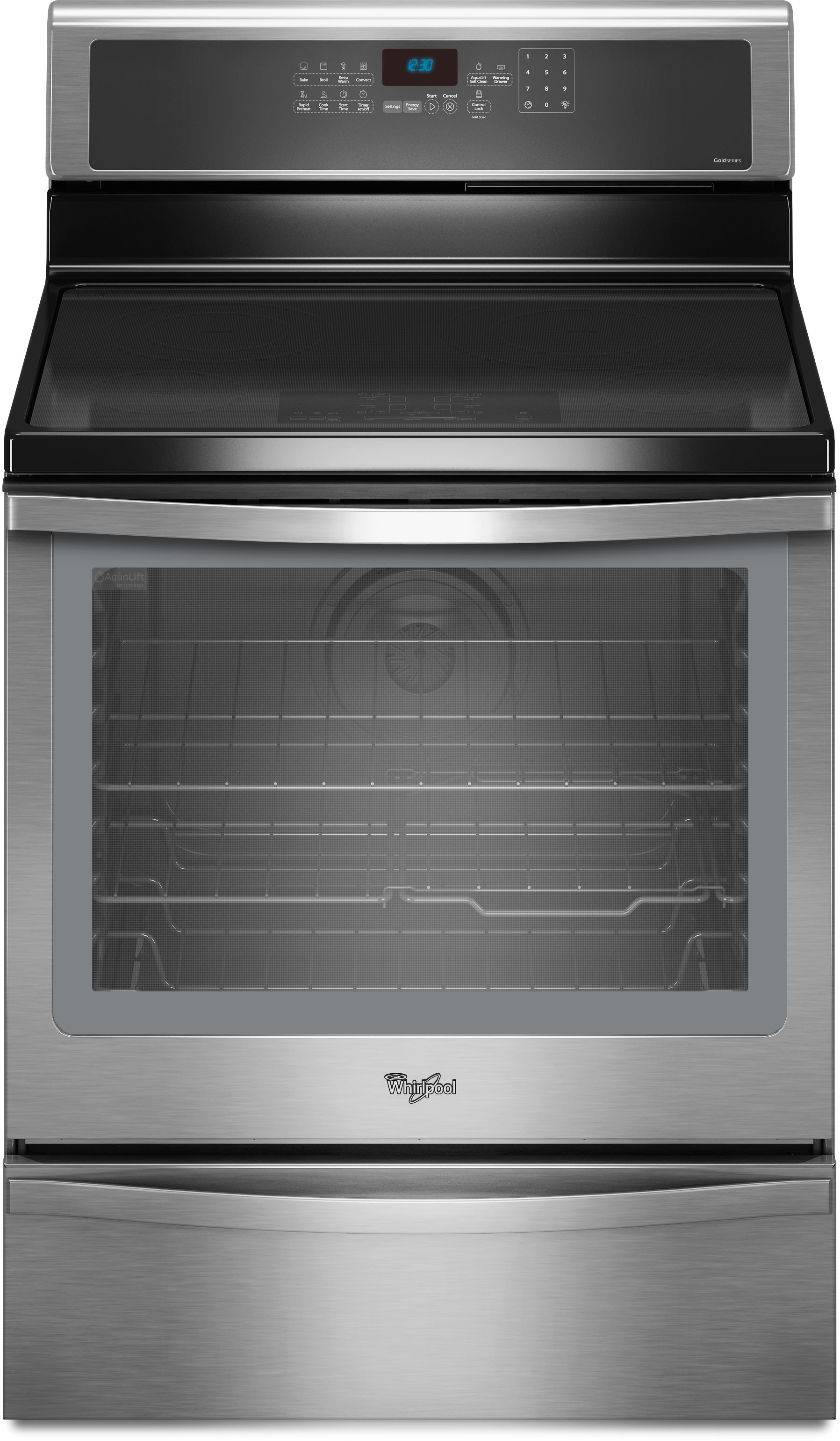 Whirlpool Wfi910h0as 30 Inch Freestanding Induction Range