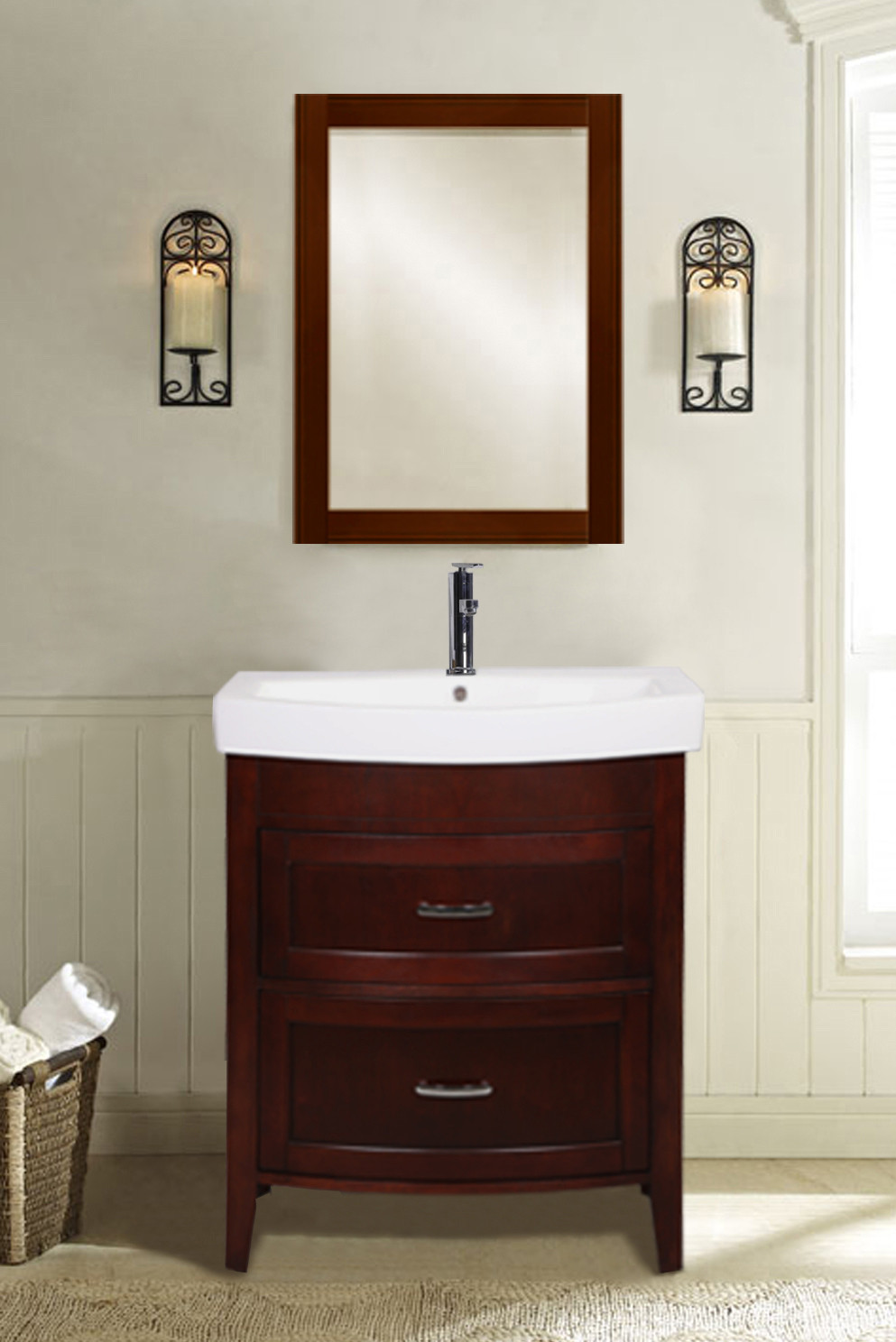 Empire industries a2402b 24 inch freestanding vanity with for Empire bathrooms