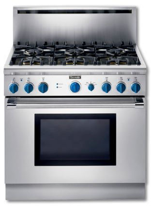 Thermador P366cs 36 Inch Pro Style All Gas Range With 6