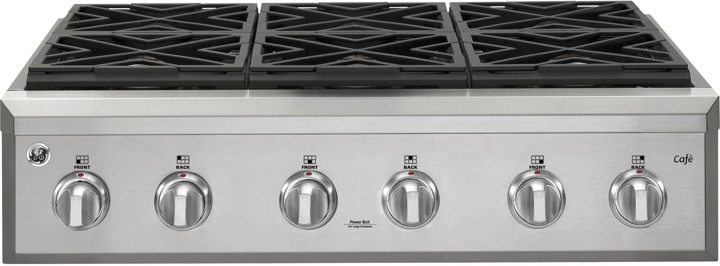 Ge Cgu366sehss 36 Inch Natural Gas Rangetop With 6 Edge To