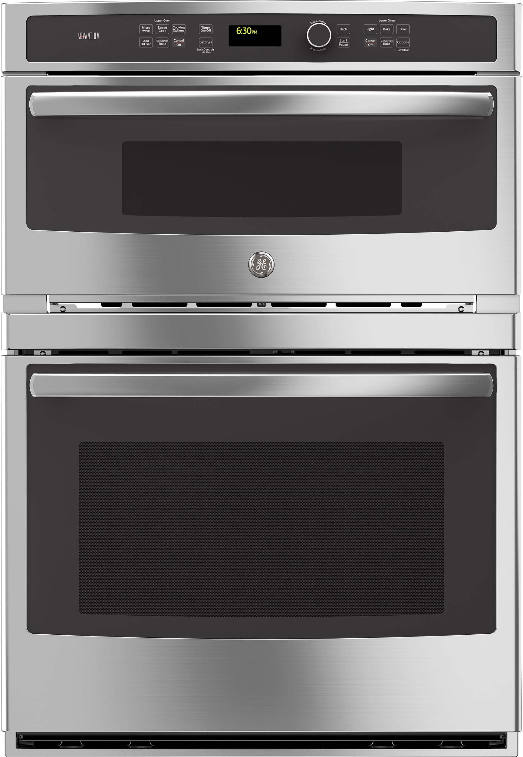GE PT9800SHSS 30 Inch Built-in Combination Wall Oven with 5.0 cu. ft ...