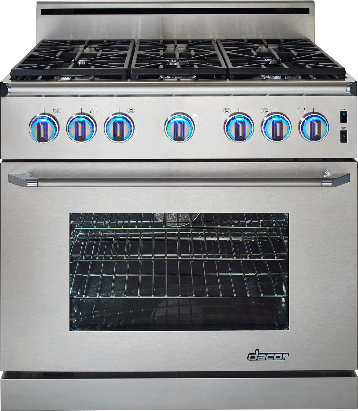 Dacor Countertop Stove : Dacor ER36GI 36 Inch Freestanding Gas Range with 5.4 cu. ft. Manual ...