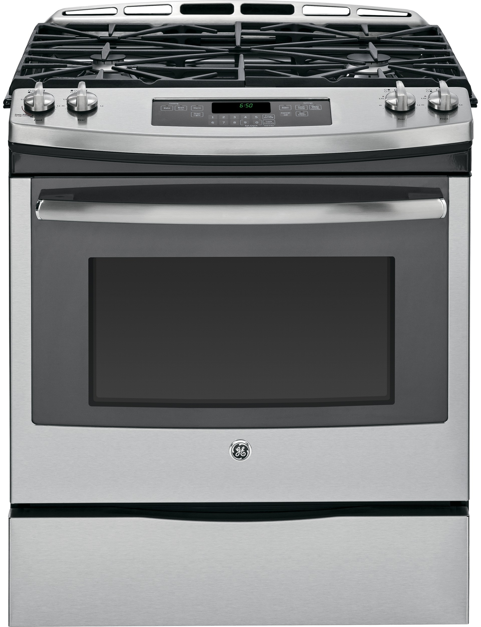 ge jgs650sefss 30 inch slide in gas range with 5 6 cu ft capacity oven 4 sealed burners with. Black Bedroom Furniture Sets. Home Design Ideas