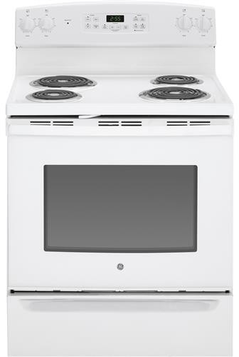 Ge Jb255djww 30 Inch Freestanding Electric Range With 4