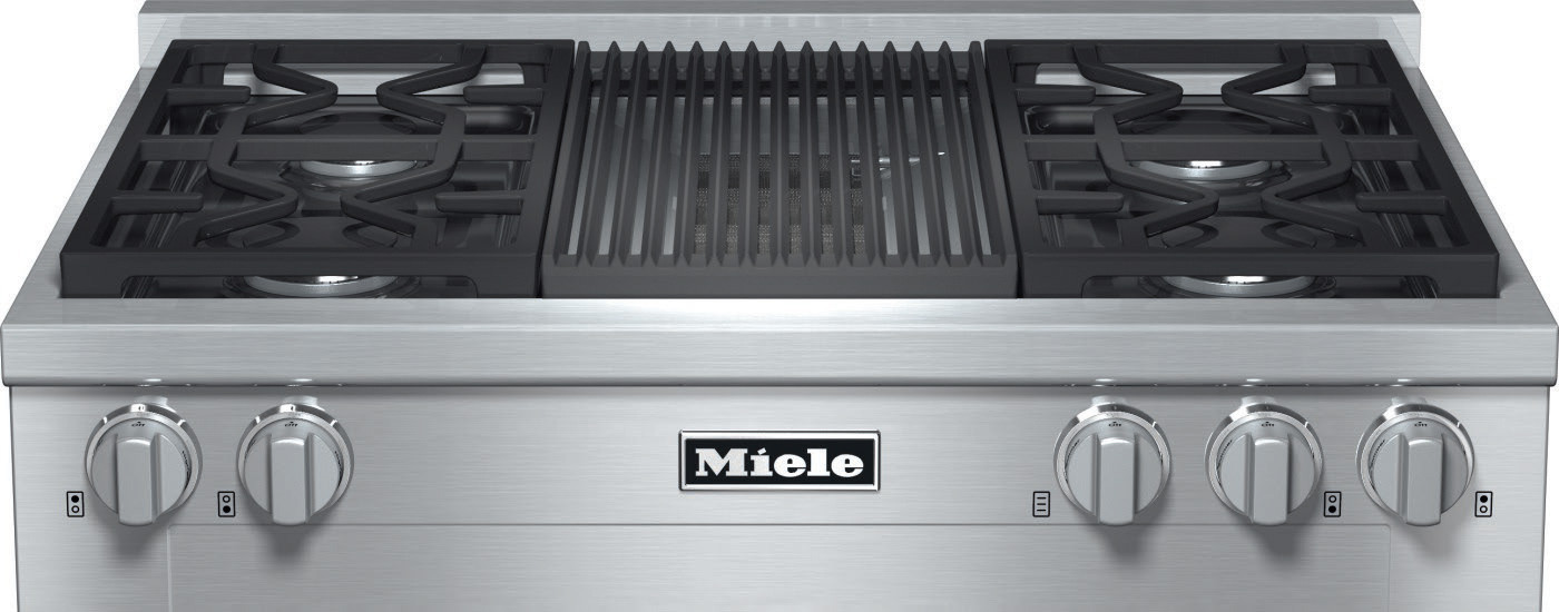 Miele Kmr1135g 36 Inch Pro Style Gas Rangetop With 4