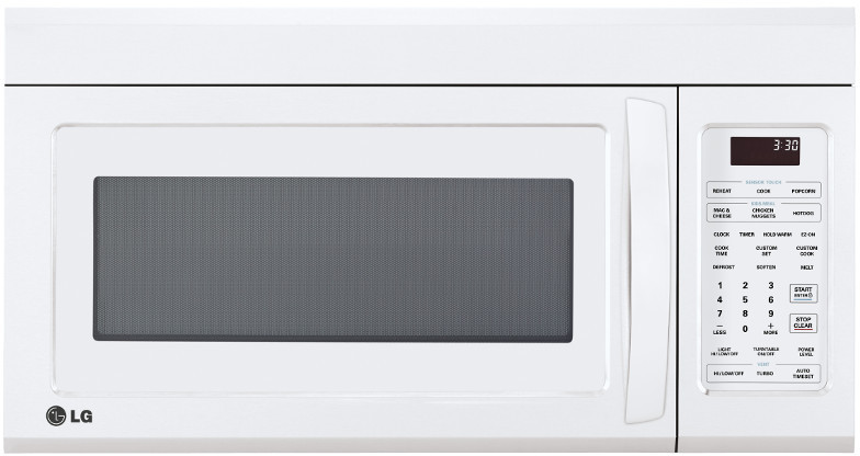 Lg Lmv1831sw 1 8 Cu Ft Over The Range Microwave Oven With 1 000 Cooking Watts 300 Cfm Venting