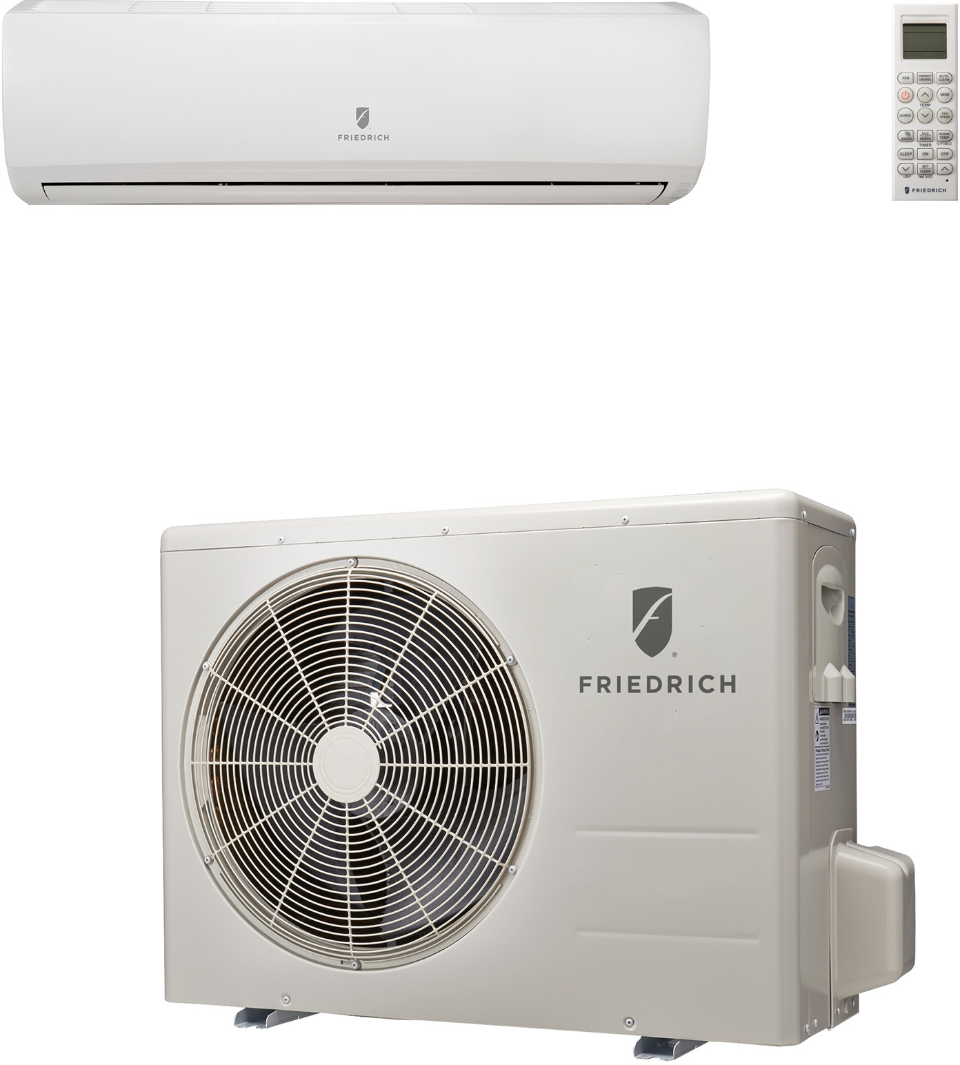 Friedrich m18yj 17 000 btu single zone wall mount ductless for Split wall