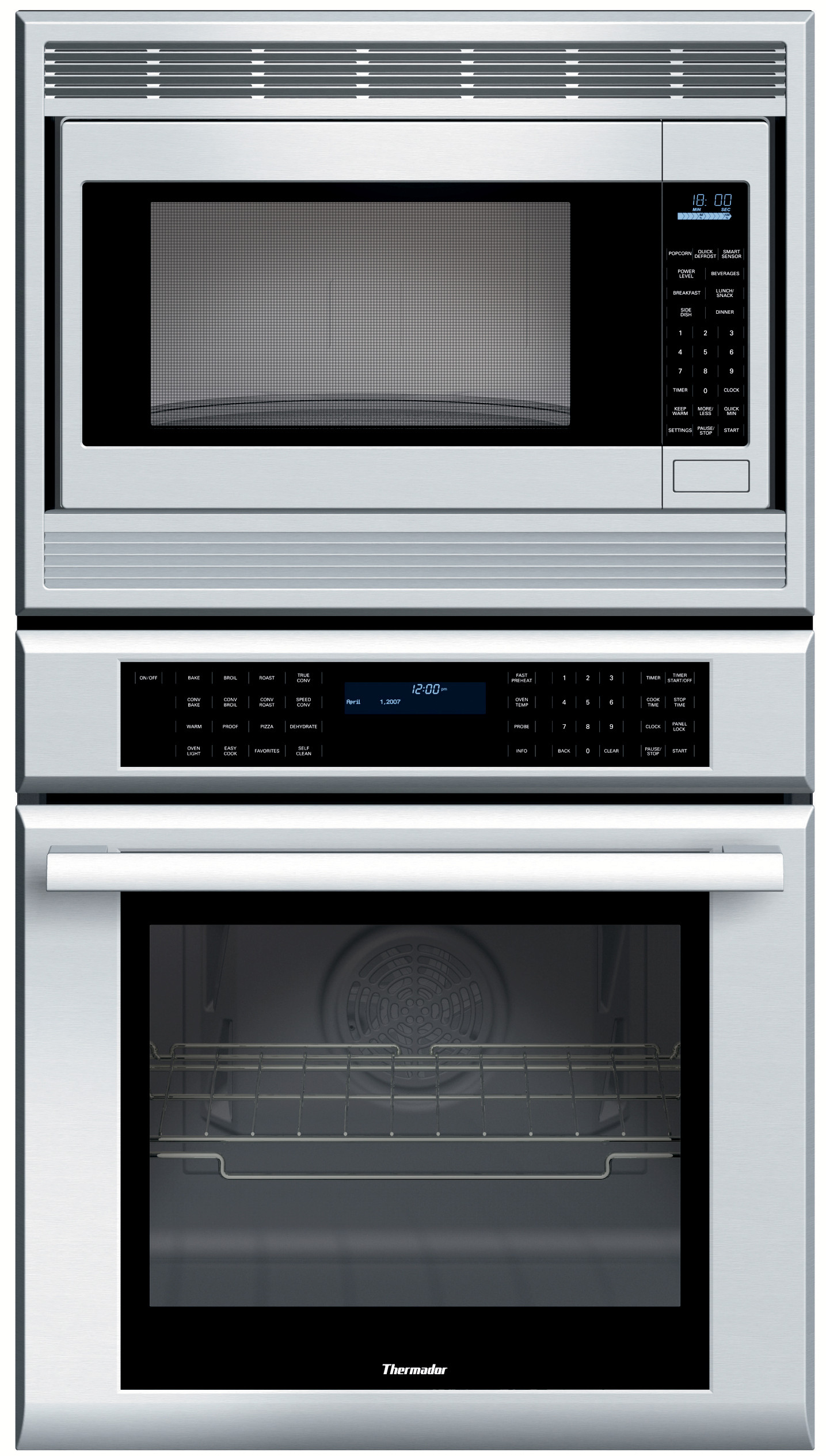 Thermador Mem271es 27 Inch Combination Wall Oven With 1200