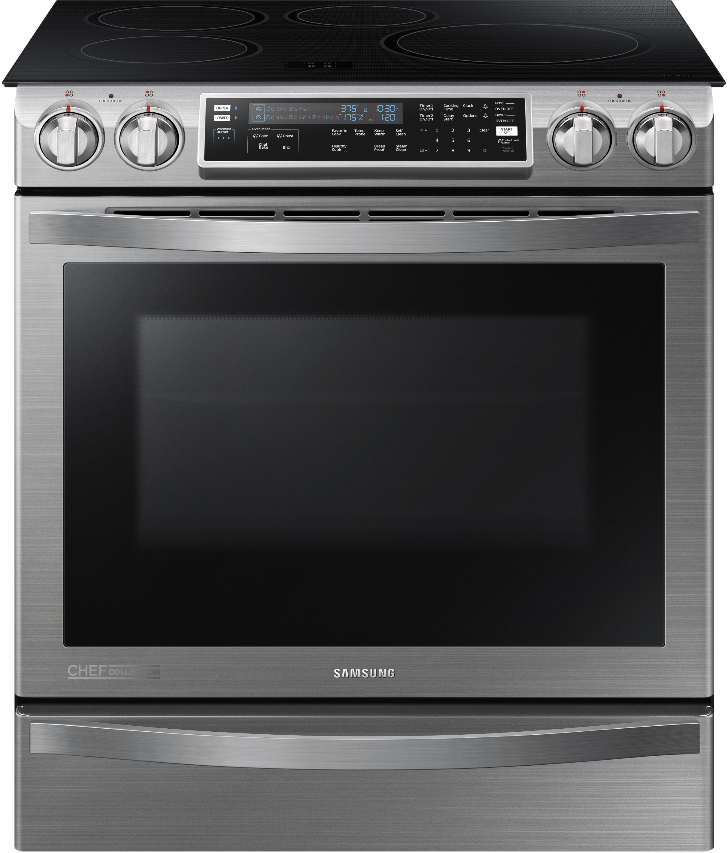 Samsung Ne58h9970ws 30 Inch Slide In Induction Range With