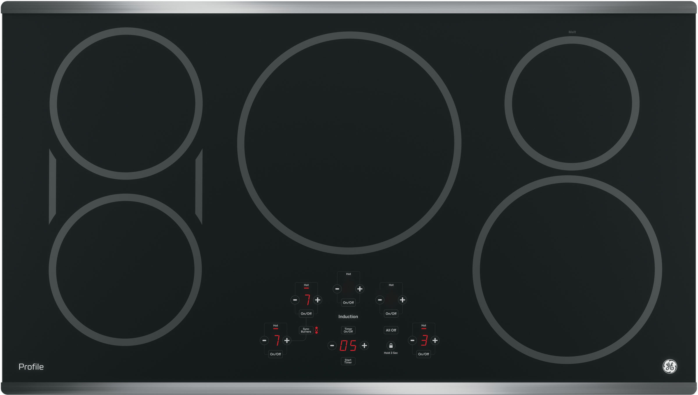 Ge Php9036sjss 36 Inch Induction Cooktop With 5 Induction