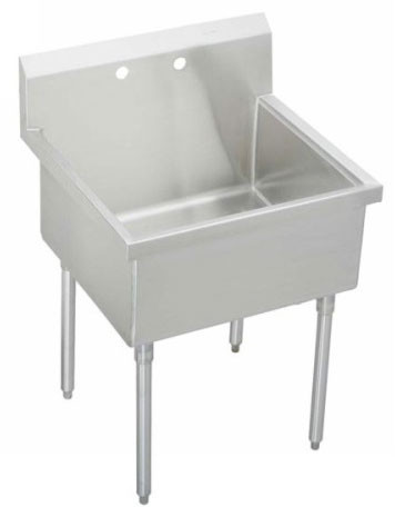 Elkay Pla8136 39 Inch Free Standing Utility Sink With 14