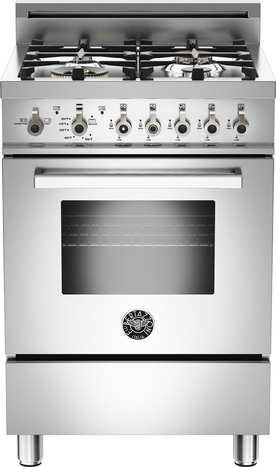Bertazzoni Pro244gas 24 Inch Gas Range With 4 Sealed