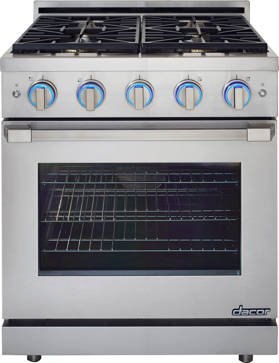 Dacor Countertop Stove : Dacor RNRP30GSNG 30 Inch Slide-in Gas Range with 1 SimmerSear Burner ...