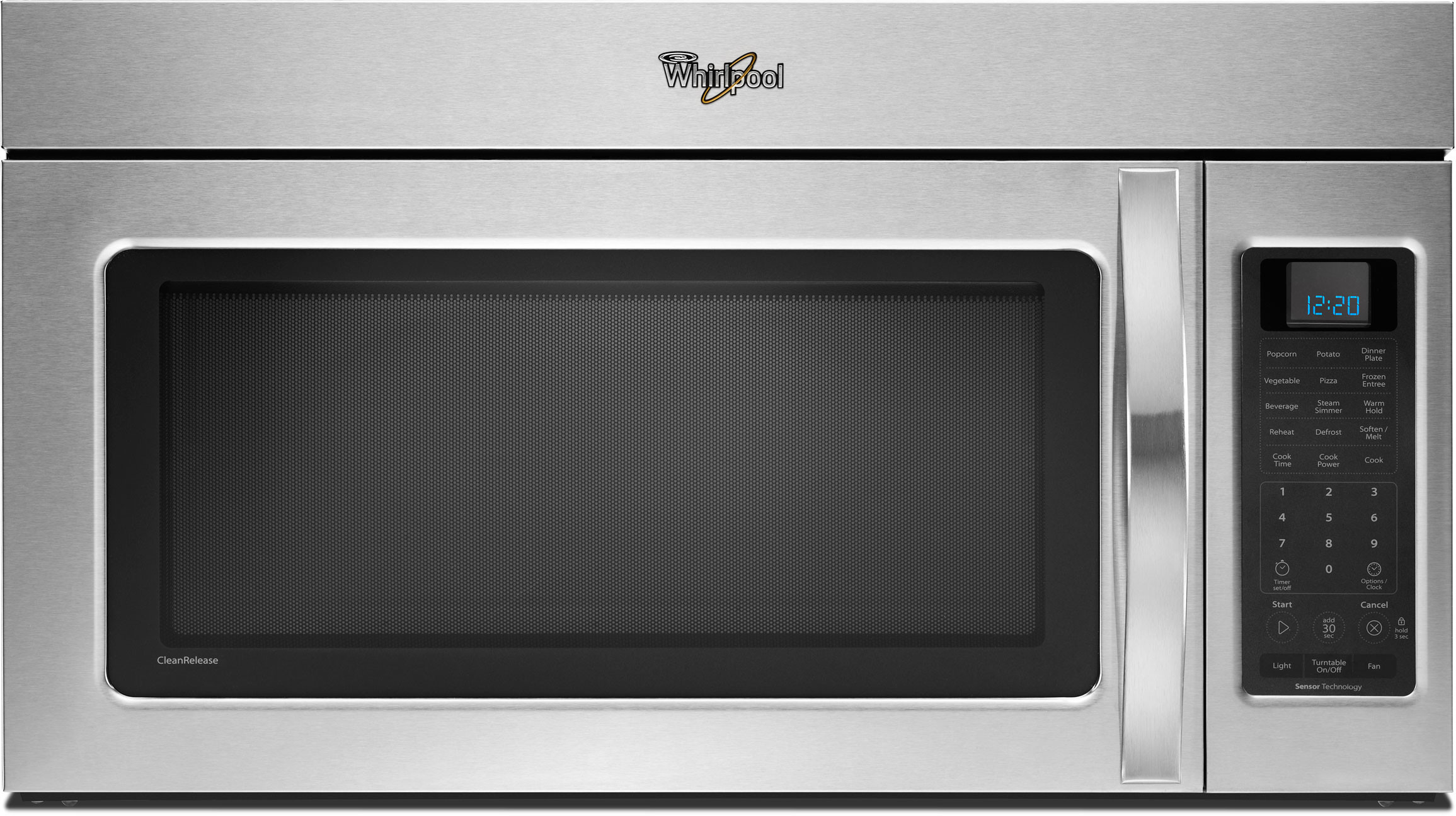 Whirlpool Wmh53520aw 2 0 Cu Ft Over The Range Microwave Oven With 400 Cfm Vent System 4 Speed