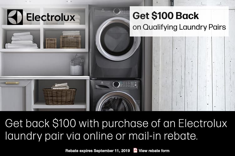 Electrolux ELWADREW5273 Stacked Washer & Dryer Set with